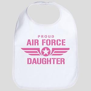 Proud Air Force Daughter W [pink] Bib